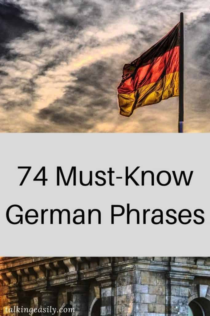 Post Pin: 74 Must Know German Phrases: Title Image
